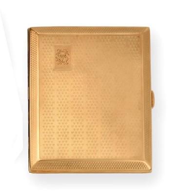 Lot 2066 - A George V Gold Cigarette-Case, by John Henry...