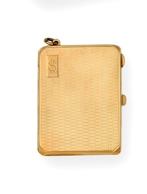 Lot 2067 - A George V Gold Match-Book Case, by B. H....
