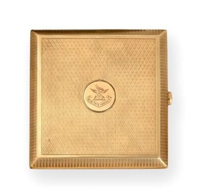 Lot 2068 - A George V Gold Cigarette-Case, by Fergenbaum...