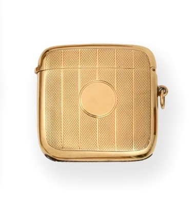 Lot 2069 - A George V Gold Vesta-Case, by William Neale &...