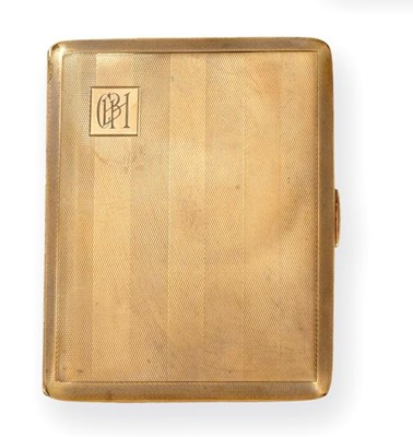 Lot 2070 - A George V Gold Cigarette-Case, by W. T....