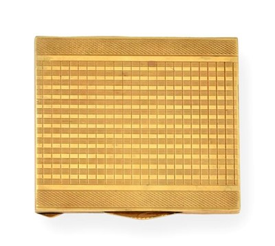 Lot 2071 - A Yellow Metal Cigarette-Case, Apparently...