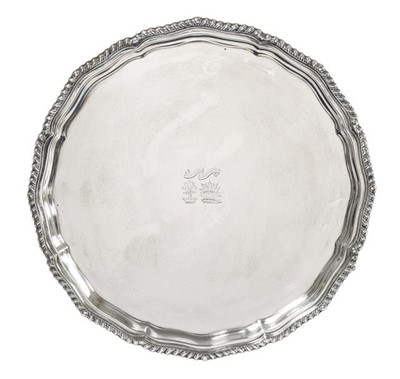 Lot 2076 - A George V Silver Salver, by Jay, Richard...
