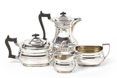 Lot 2078 - A George V Four-Piece Silver Tea-Service, by...