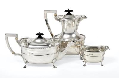 Lot 2079 - A Three-Piece George V Silver Tea-Service, by...