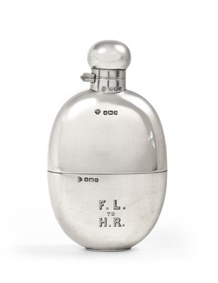 Lot 2080 - A George V Silver Hip-Flask, by William Hutton...