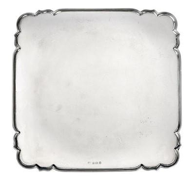 Lot 2084 - A George V Silver Salver, Maker's Mark Worn,...