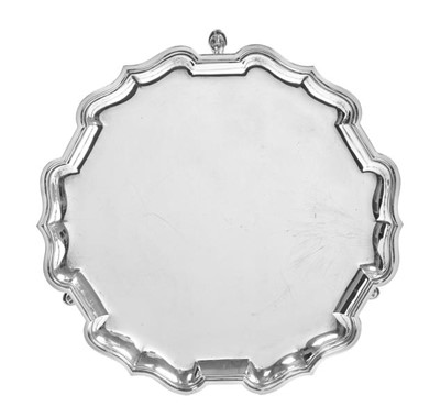 Lot 2088 - A George V Silver Waiter, by Mappin and Webb,...