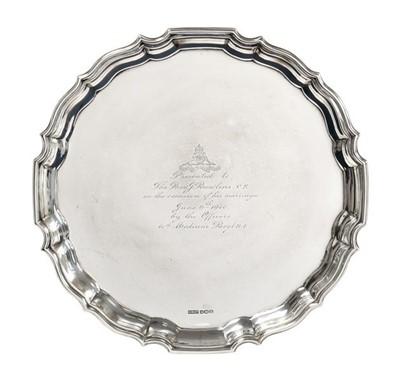 Lot 2089 - A George VI Silver Salver, by Deakin...