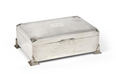 Lot 2097 - A George V Silver Cigarette-Box, by Charles S....