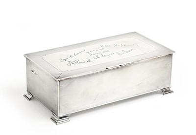 Lot 2099 - A George VI Silver Cigarette-Box, by Mappin...