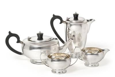 Lot 2100 - A Four-Piece George VI Silver Tea-Service, by...