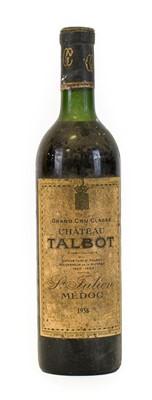 Lot 5026 - Château Talbot 1958, Saint Julien, Médoc (one...