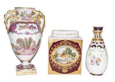 Lot 6 - A Copelands Spode vase (af), a Royal Crown...