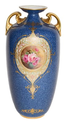 Lot 12 - A Royal Worcester hand painted vase, signed