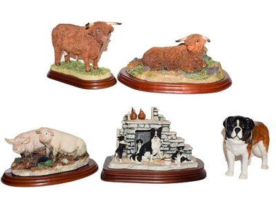 Lot 9 - Border Fine Arts Studio models: 'Highland Bull...
