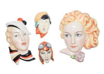 Lot 23 - Goebels deco wall mask of a blonde girl, a...
