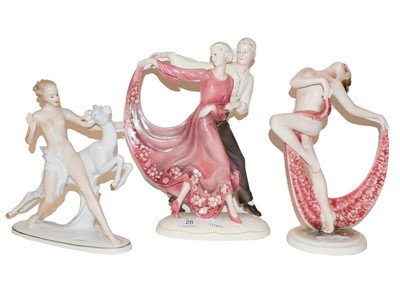 Lot 28 - Katzhutte group of dancing figures, another,...
