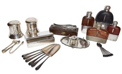 Lot 15 - A silver plated sandwich box, together with...