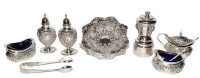Lot 82 - A collection of assorted silver, including: a...