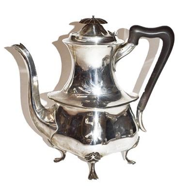 Lot 94 - Silver coffee pot
