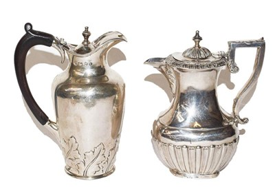 Lot 96 - A Victorian and A George V Silver Hot-Water...