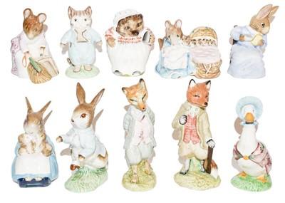 Lot 18 - Beswick Beatrix Potter figures including:...