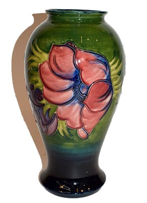 Lot 41 - Moorcroft Anemone pattern baluster vase,...
