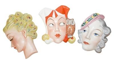 Lot 43 - Erphila Czechoslovakia deco wall mask of girl...