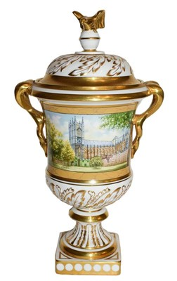 Lot 52 - A Coalport vase and cover, number 100 of 100...