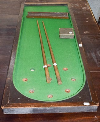 Lot 1098 - A late 19th century table top bar Billiards...