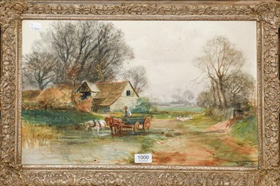 Lot 1000 - Henry Charles Fox RPA (1855-1929) Watering the...