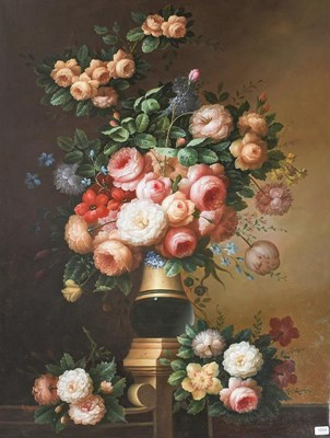 Lot 1004 - A large contemporary still life in the 19th...