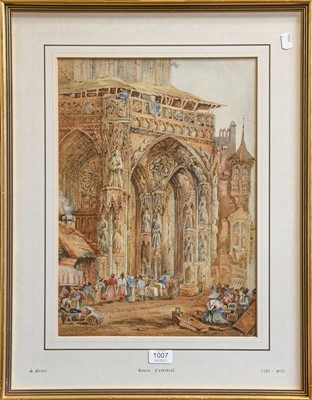 Lot 1007 - Attributed to Samuel Prout (1783-1852) Rouen...