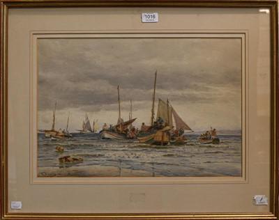 Lot 1016 - Thomas Bush Hardy (1842-1897) ''Landing fish...