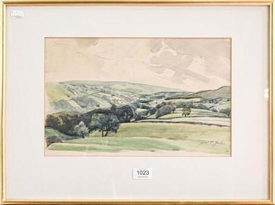 Lot 1023 - Lincoln Pugh Jenkins, framed watercolour, 24cm...