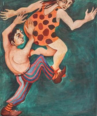 Lot 1028 - British school (Contemporary) Dancing figures,...