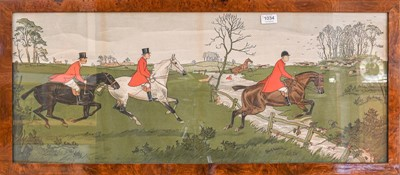 Lot 1034 - After Charles Baldock, a set of three hunting...