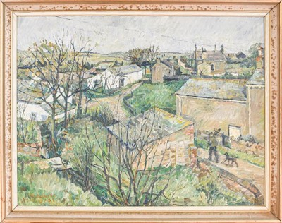 Lot 1035 - R Roberts (Contemporary) Village view, signed...