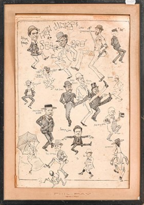 Lot 1038 - Phil May 'High Jinks at Scarboro', caricature...