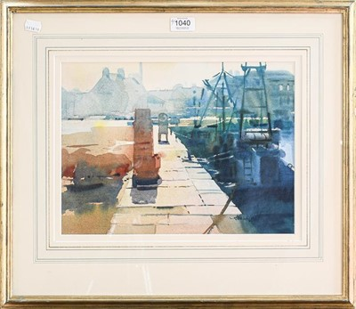 Lot 1040 - Alexander Creswell, 'The Quayside, St Vaast,...