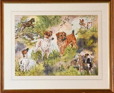 Lot 1054 - Gillian Harris (20th century) ''Terriers, Holy...