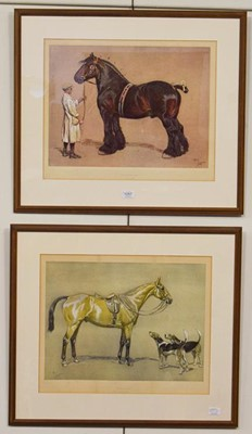 Lot 1057 - After Cecil Aldin, ''Strength'' and ''Brains'',...