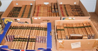 Lot 1103 - Bindings. Collection of leather-bound library...