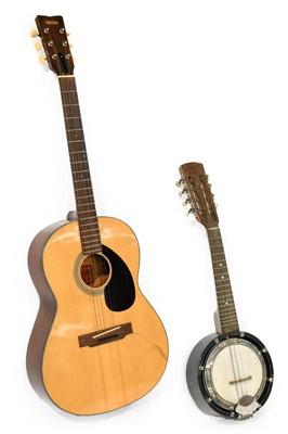 Lot 3051 - Yamaha FG75 Acoustic Guitar black scratchplate...