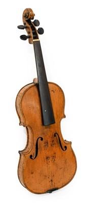 "Lot 3018 - Violin 14 1/4"" two piece back, no label, has..."