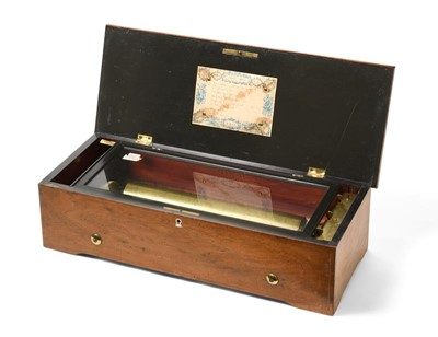 Lot 3072 - A Musical Box Playing Eight Patriotic And...
