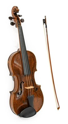 """Lot 3019 - Violin 14 1/8"""" one piece back, baroque style..."""