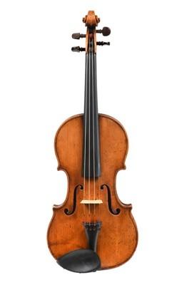 """Lot 3009 - Violin By John Lott 14 1/8"""" two piece back,..."""
