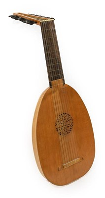 Lot 3061 - Lute 15 strings bowl back, with makers label...